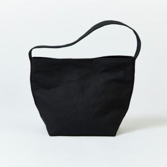 【送料無料】ショルダーバッグ ブラック レディース メンズ マザーズバッグ 大きめ ポケット付き 黒 シンプル ギフト