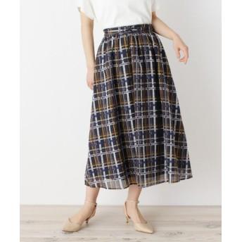 SOUP マルチチェックプリントスカート