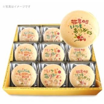 【送料無料】敬老の日デザイン 低糖質プリント最中 れあちいず味 1箱9個入り レアチーズ もなか