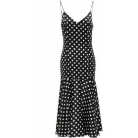 キャロライン コンスタス CAROLINE CONSTAS レディース ワンピース ワンピース・ドレス Kai polka-dot stretch-silk satin midi slip dre