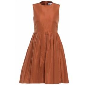 レッド ヴァレンティノ REDValentino レディース ワンピース ワンピース・ドレス Pleated faille mini dress Copper