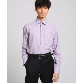 タケオキクチ ヘアラインギンガムチェックシャツ メンズ パープル(283) 02(M) 【TAKEO KIKUCHI】