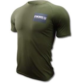 GYMCROSS (ジムクロス)トレーニング フィットネスウェア プリント半袖Tシャツ【メンズ】gc-ss1-073,Khaki,L