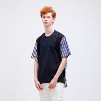 【ラブレス(LOVELESS)】 シャツブロッキングTシャツ ネイビー2