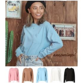 ANAP(アナップ)クルーネックシンプルロングTシャツ