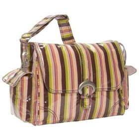 カレンコム Kalencom レディース バッグ Laminated Buckle Diaper Bag Monkey Stripes Pink