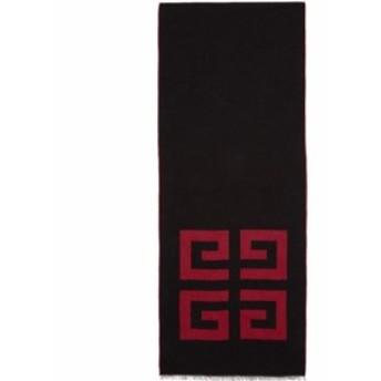 ジバンシー Givenchy メンズ マフラー・スカーフ・ストール Black & Red 4G Woven Scarf Black/Red