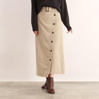 [マルイ] [洗える]ベルト付きコーデュロイラップ風スカート/オゾック(OZOC)