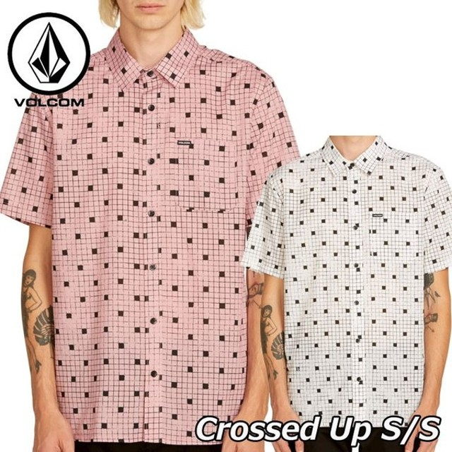 volcom ボルコム シャツ Crossed Up S/S  メンズ 半袖 A0411902【返品種別OUTLET】