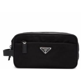 プラダ Prada メンズ ポーチ Black Logo Wash Bag Black