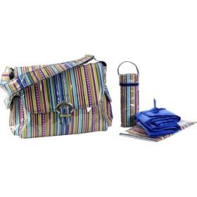 カレンコム Kalencom レディース バッグ Laminated Buckle Diaper Bag Cobalt Stripes