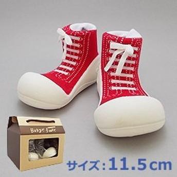 Baby feet ベビーフィート スニーカー_レッド 11.5cm