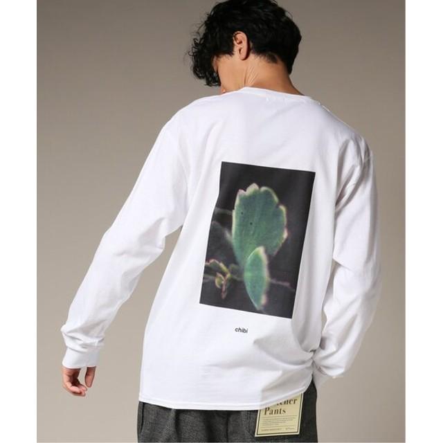 417 EDIFICE CHIBIFLOWER BACK PRINT ロングスリーブ Tシャツ ホワイト M