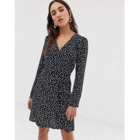 リバーアイランド River Island レディース ワンピース ワンピース・ドレス tea dress in polka dot Black spot