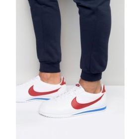 ナイキ メンズ スニーカー シューズ・靴 Nike Cortez Leather Trainers In White 749571-154 White