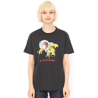[マルイ] 【ユニセックス】コラボレーションTシャツ/宇宙飛行士(おさるのジョージ)/グラニフ(graniph)