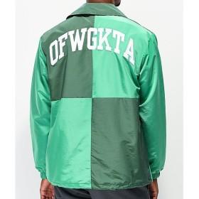 オッド フーチャー ODD FUTURE メンズ ジャケット アウター Odd Future Green Colorblock Coaches Jacket Green