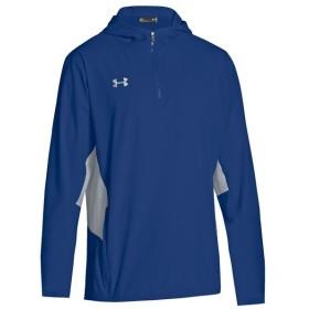 アンダーアーマー Under Armour メンズ ジャケット アウター team squad woven 1/4 zip jacket Royal/Steel