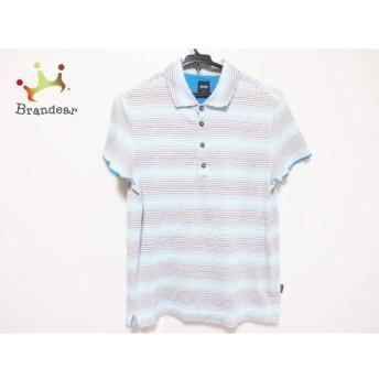 ヒューゴボス HUGOBOSS 半袖ポロシャツ メンズ ライトグリーン×ブルー×マルチ ボーダー 新着 20190824