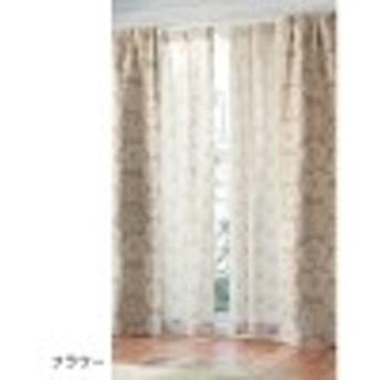 北欧調デザインのプリントUVカット・遮像ボイルカーテン