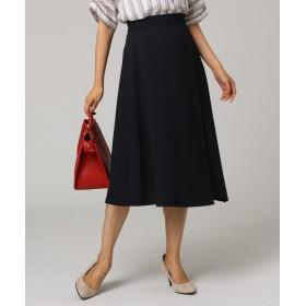 アンタイトル イレギュラーヘムミモレラップ風スカート レディース ブラック(019) 02(M) 【UNTITLED】
