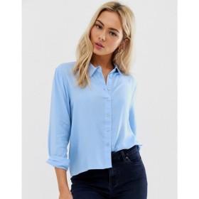 ジェイディーワイ JDY レディース ブラウス・シャツ トップス casual cotton shirt Blue