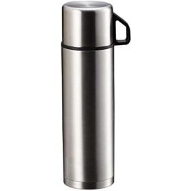 水筒 ダブル ステンレス ボトル スタイルベーシック[H-6826](シルバー 500ml)