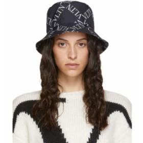 ヴァレンティノ Valentino レディース ハット 帽子 Black & White Garavani VLTN Bucket Hat Black
