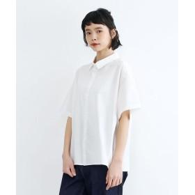 メルロー スナップボタン半袖シャツ レディース オフホワイト FREE 【merlot】