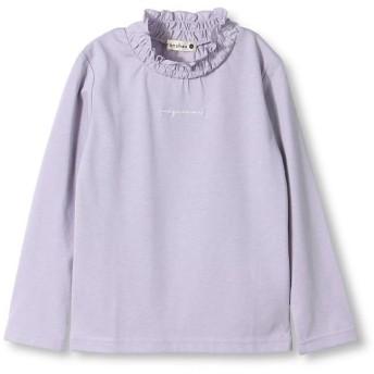 ブランシェス ギャザーフリル衿長袖Tシャツ レディース ラベンダー 90cm 【branshes】