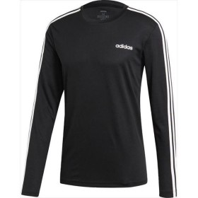 [adidas]アディダス M CORE 3ストライプスロングスリーブTシャツ (GER64)(EI5647) ブラック[取寄商品]