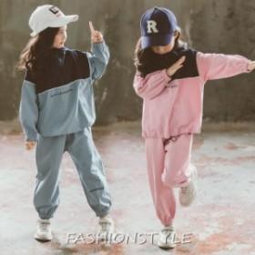 韓国子供服 男の子 女の子キッズ ジャージ 衣装 セットアップ スウェット 長袖 スポーツウエア 運動服 トップス ロングパンツ パーカー