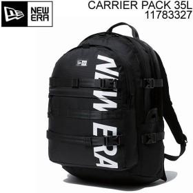 ニューエラ リュック NEWERA CARRIER PACK 35L プリントロゴ ブラック×ホワイト 11783327 キャリアパック バックパック