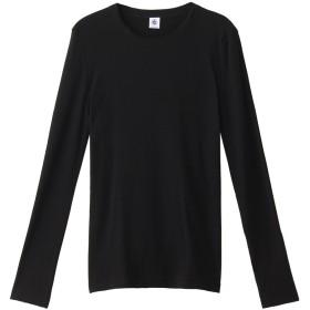 PETIT BATEAU プチバトー クルーネック長袖Tシャツ ブラック