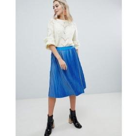 Soaked in Luxury レディース スカート Soaked In Luxury Velvet Pleated Skirt Nautical blue