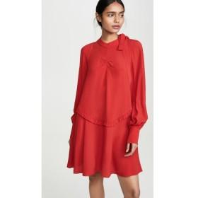 ヌメロ ヴェントゥーノ No. 21 レディース ワンピース ワンピース・ドレス Long Sleeve Mini Dress Red