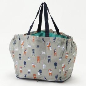 バッグ カバン 鞄 レディース エコバッグ コンパクトになる◎レジかごにつけられる保冷バッグ カラー 「グレー」