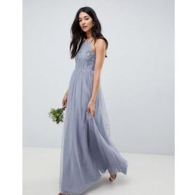 エイソス ASOS DESIGN レディース ワンピース ワンピース・ドレス delicate embellished strappy maxi dress Blue