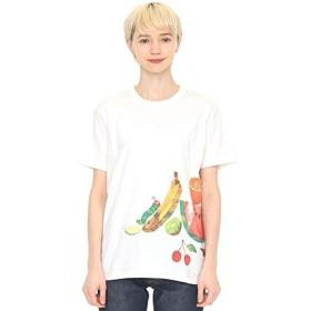 グラニフ(graniph) 【ユニセックス】コラボレーションTシャツ/メニーメニーフルーツ(エリックカール)【001ホワイト/M】