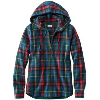 スコッチ・プラッド・フランネル・シャツ、ジップ・フーディ/Scotch Plaid Flannel Shirt, Relaxed Zip Hoodie