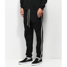 クロスカラーズ CROSS COLOURS メンズ ジョガーパンツ ボトムス・パンツ Cross Colours Stripe Black Jogger Sweatpants Black