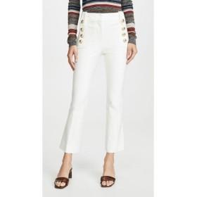 デレク ラム Derek Lam 10 Crosby レディース クロップド ボトムス・パンツ Robertson Cropped Flare Trousers with Sailor Buttons Soft White