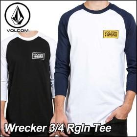 VOLCOM ボルコム tシャツ 七分丈 ロンT メンズ Wrecker 3/4 Rgln Tee  長そで ヴォルコム メール便可【返品種別OUTLET】