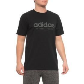 アディダス adidas メンズ トップス Linear TSL Graphic Shirt - Short Sleeve Black