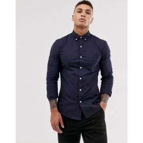 トップマン Topman メンズ シャツ トップス oxford shirt in navy Navy