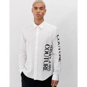 ヴェルサーチ Versace Jeans Couture メンズ シャツ トップス shirt with side logo White