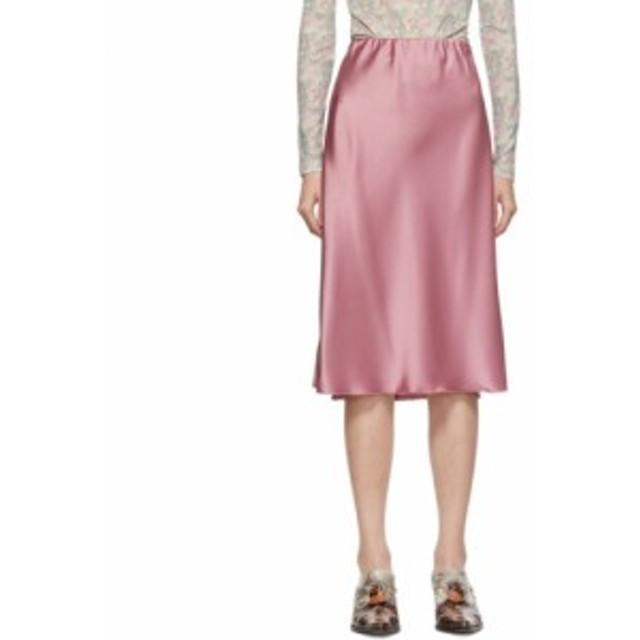 ナヌシュカ Nanushka レディース スカート Pink Satin Zarina Slip Skirt Rose