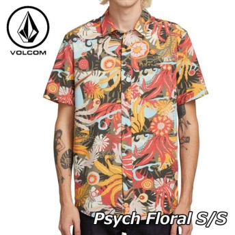 volcom ボルコム シャツ Psych Floral S/S メンズ 半袖 A0411911