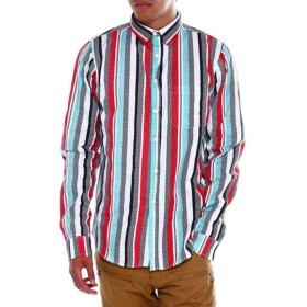 バイヤーズピック Buyers Picks メンズ シャツ トップス ls checkerboard stripe buttondown shirt Red