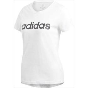 [adidas]アディダス レディース W 半袖 リニア コットン Tシャツ (FRU56)(DU0629) ホワイト/ブラック[取寄商品]